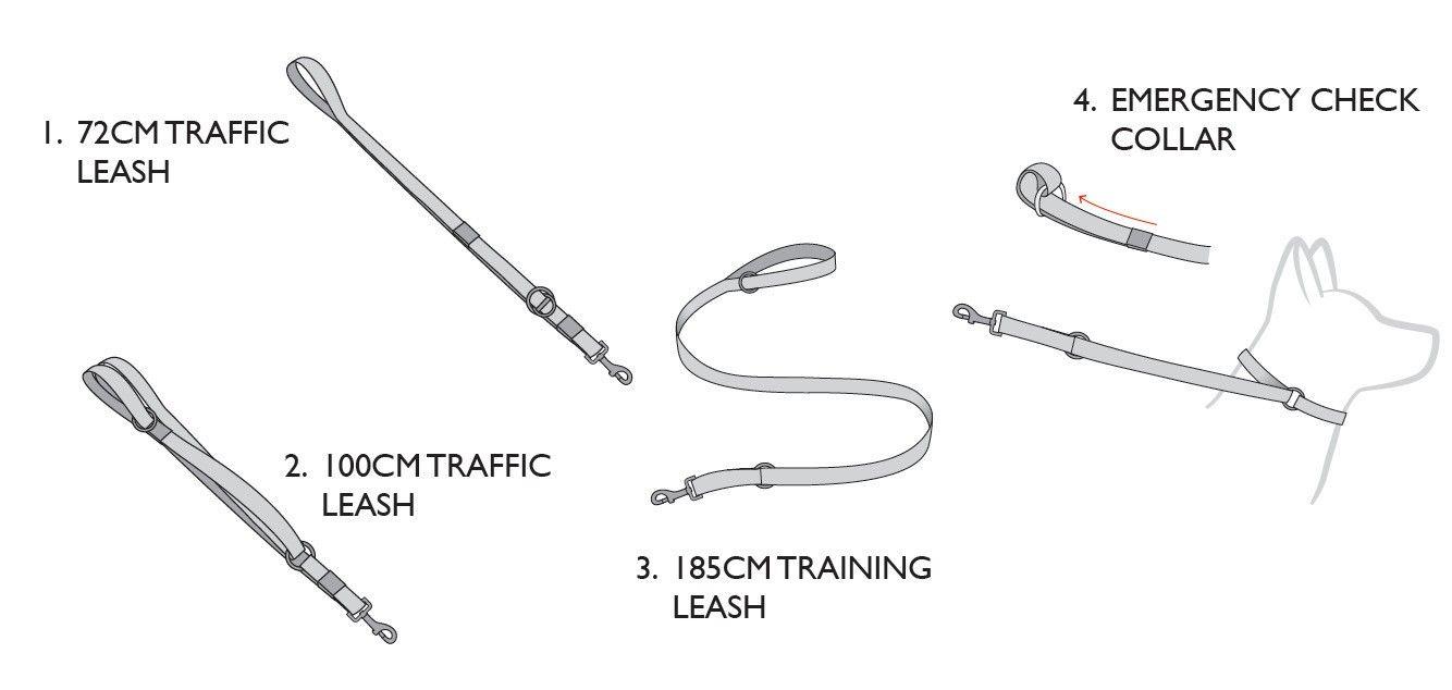 Vario 4 Leash Features